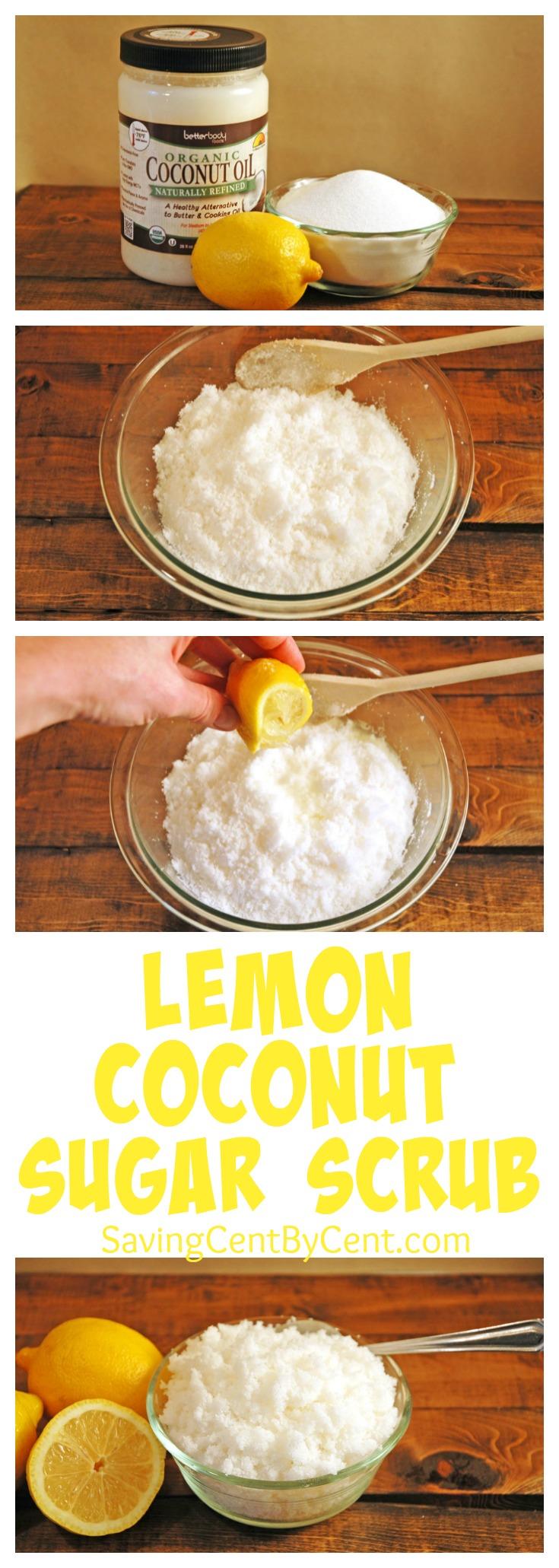 Homemade Lemon Coconut Sugar Scrub