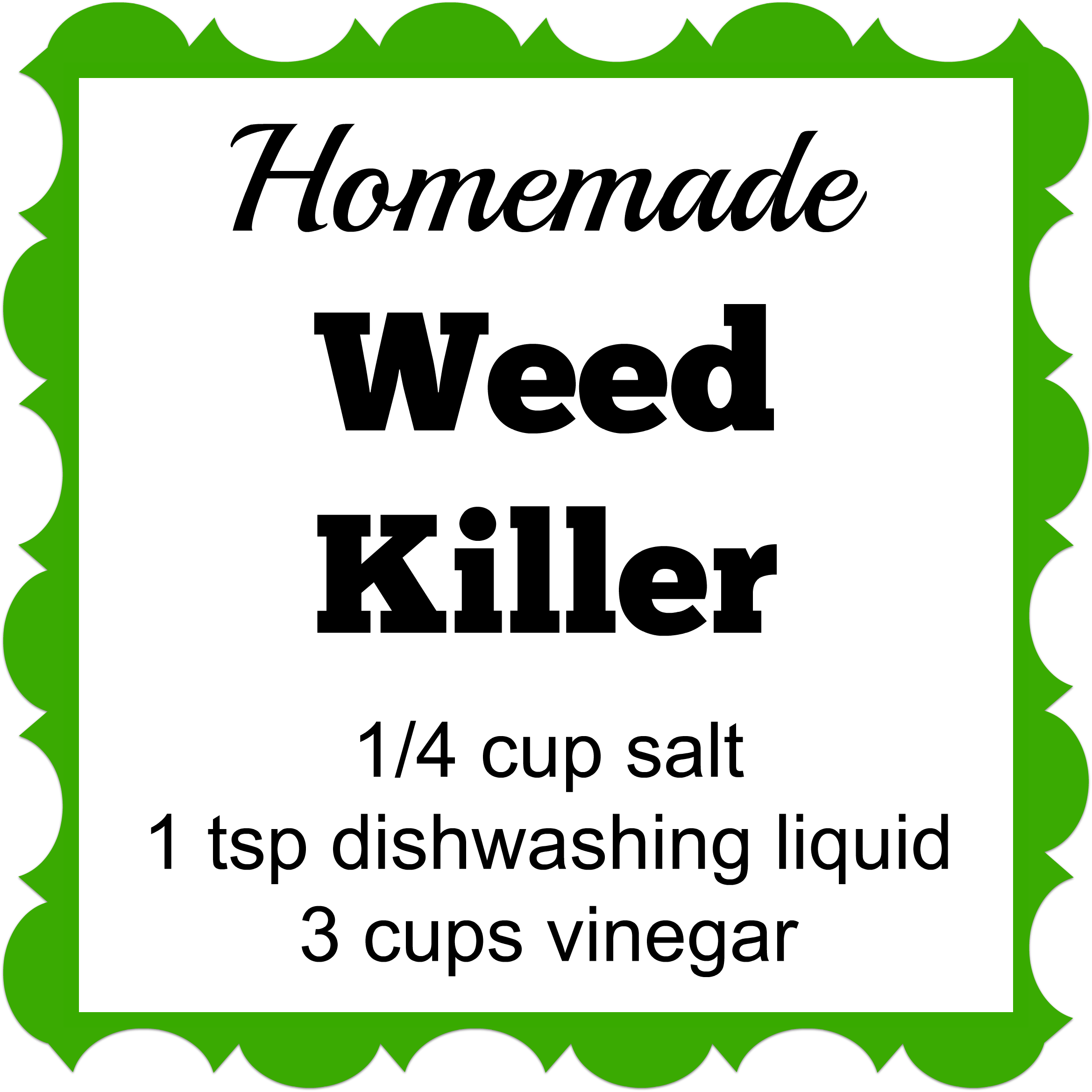how to make strong homemade weed killer