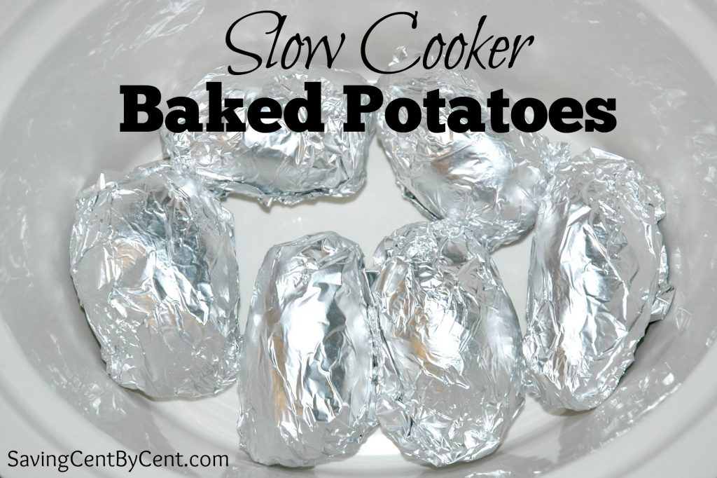 Baked Potatoes Slow Cooker