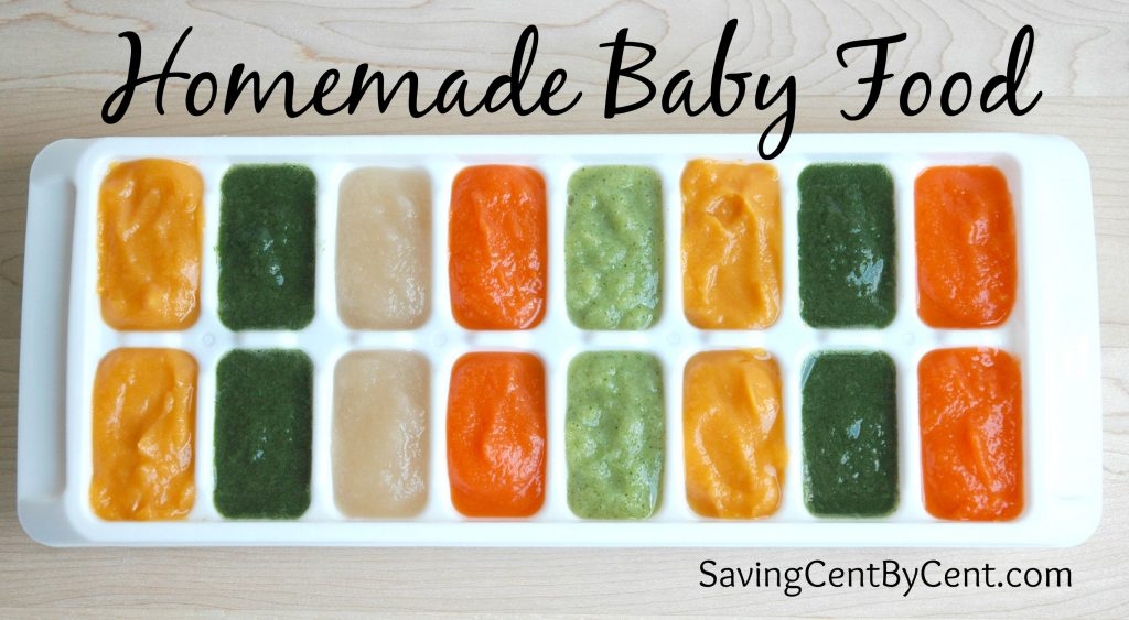Homemade Baby Food in Trays