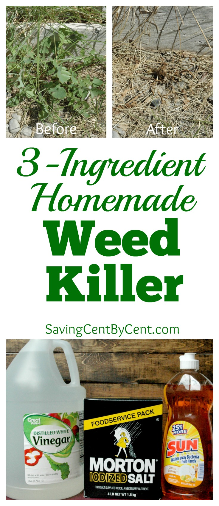 3-Ingredient Homemade Weed Killer
