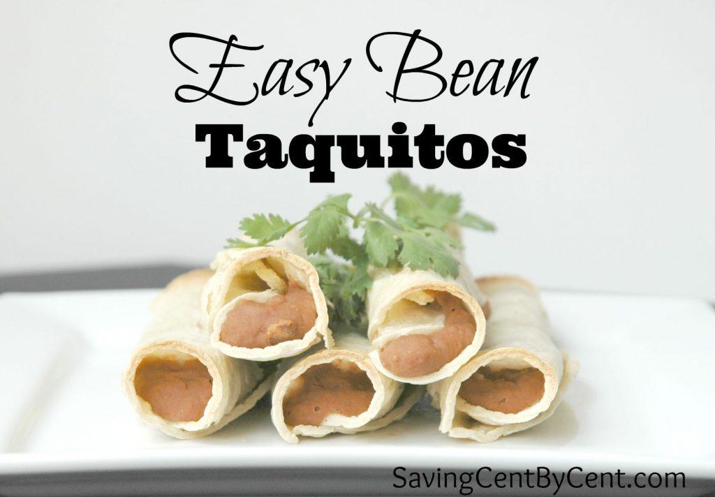 Easy Bean Taquitos