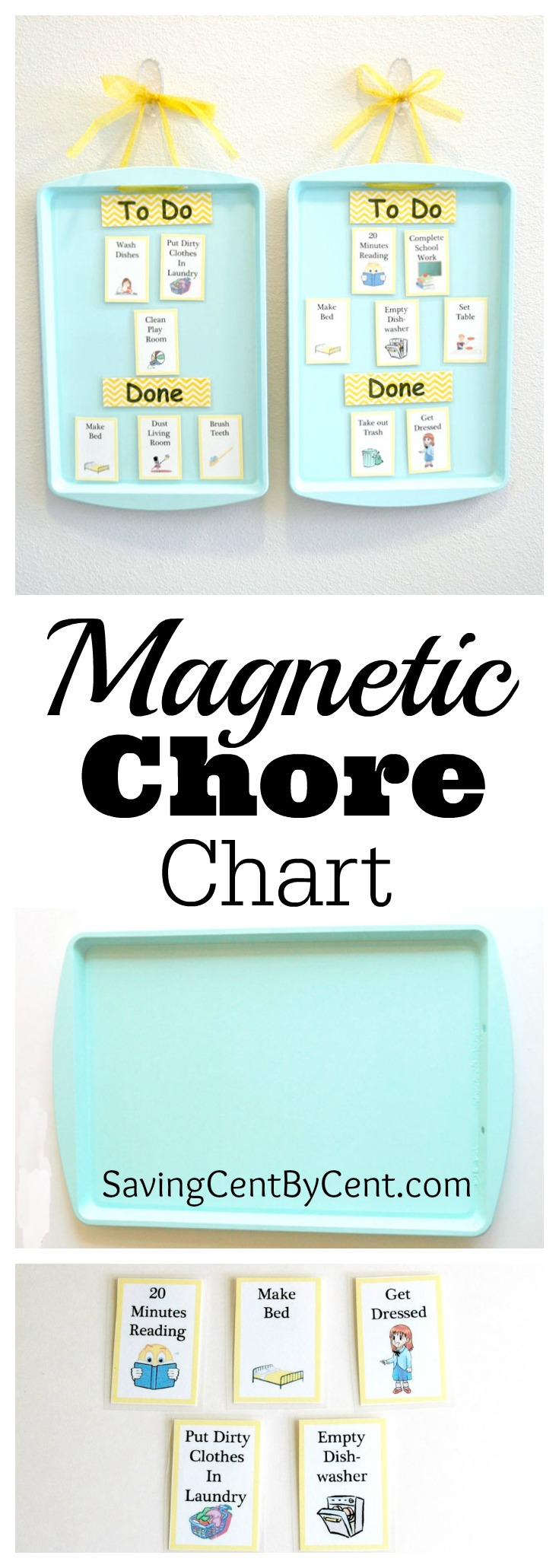Do It Yourself Magnetic Chore Chart