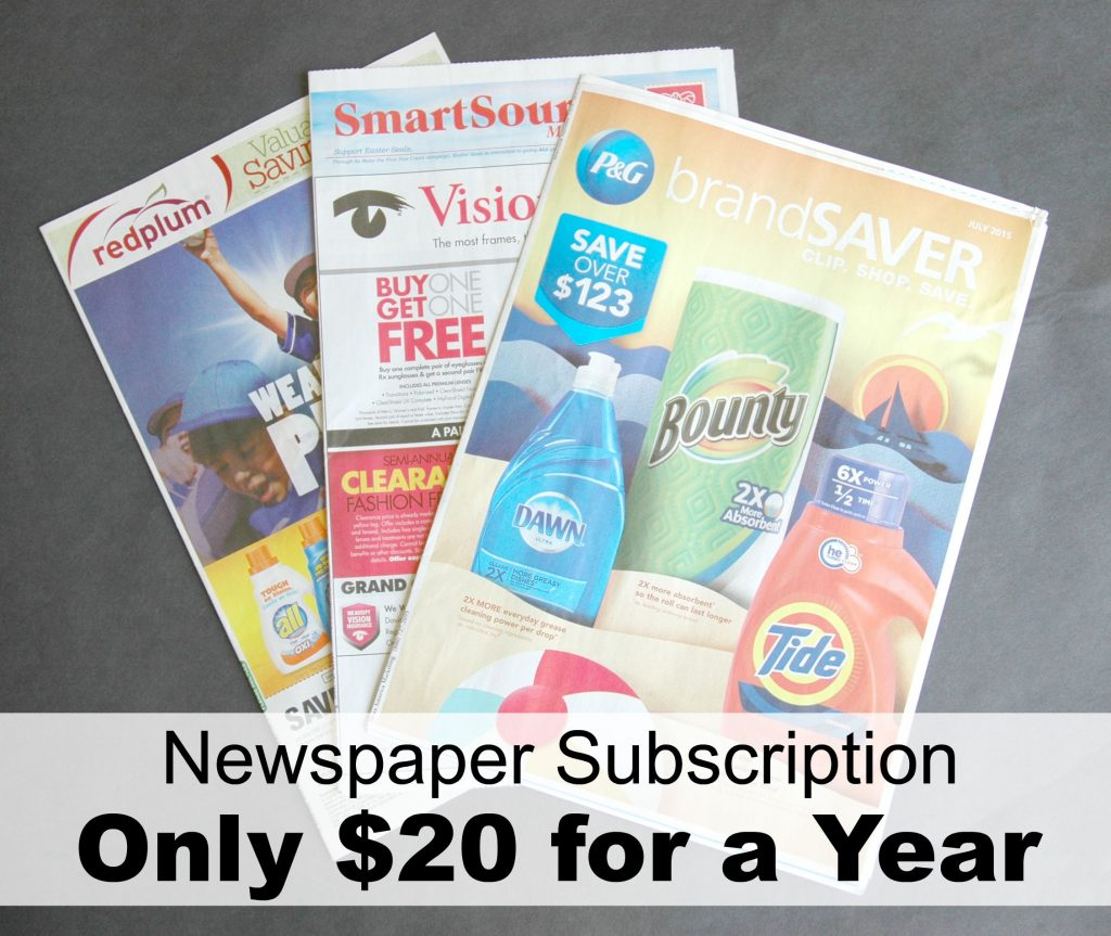 Newspaper Subscription $20 for a Year