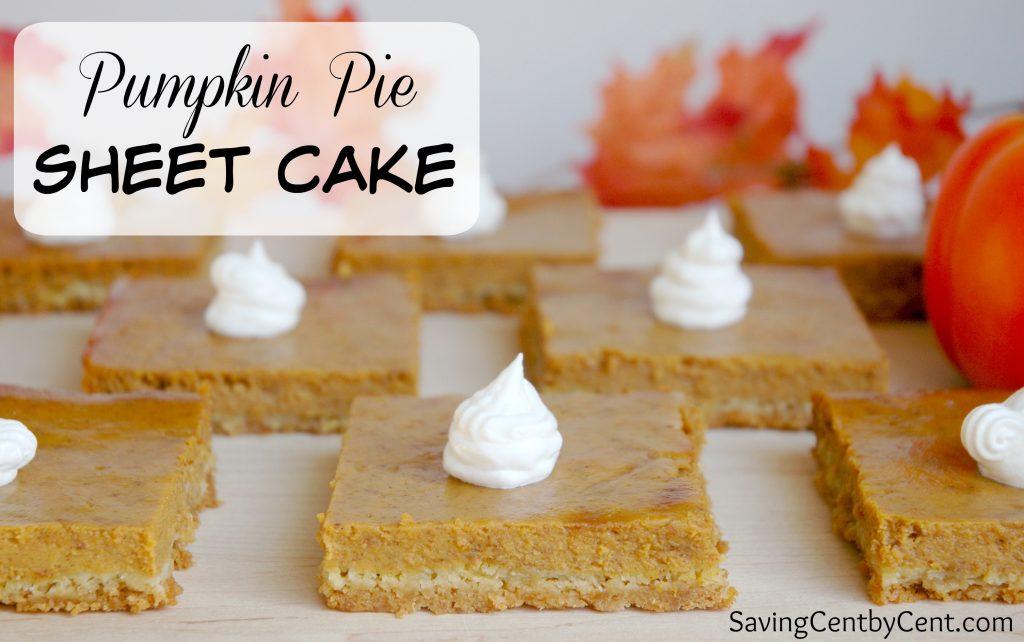 Pumpkin Pie Sheet Cake
