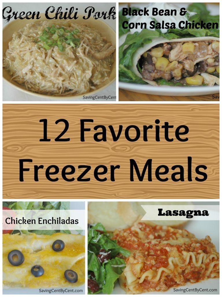 12 Favorite Freezer Meals Final