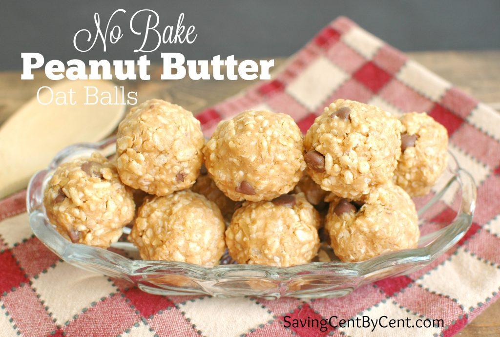 Peanut Butter Oat Balls No Bake