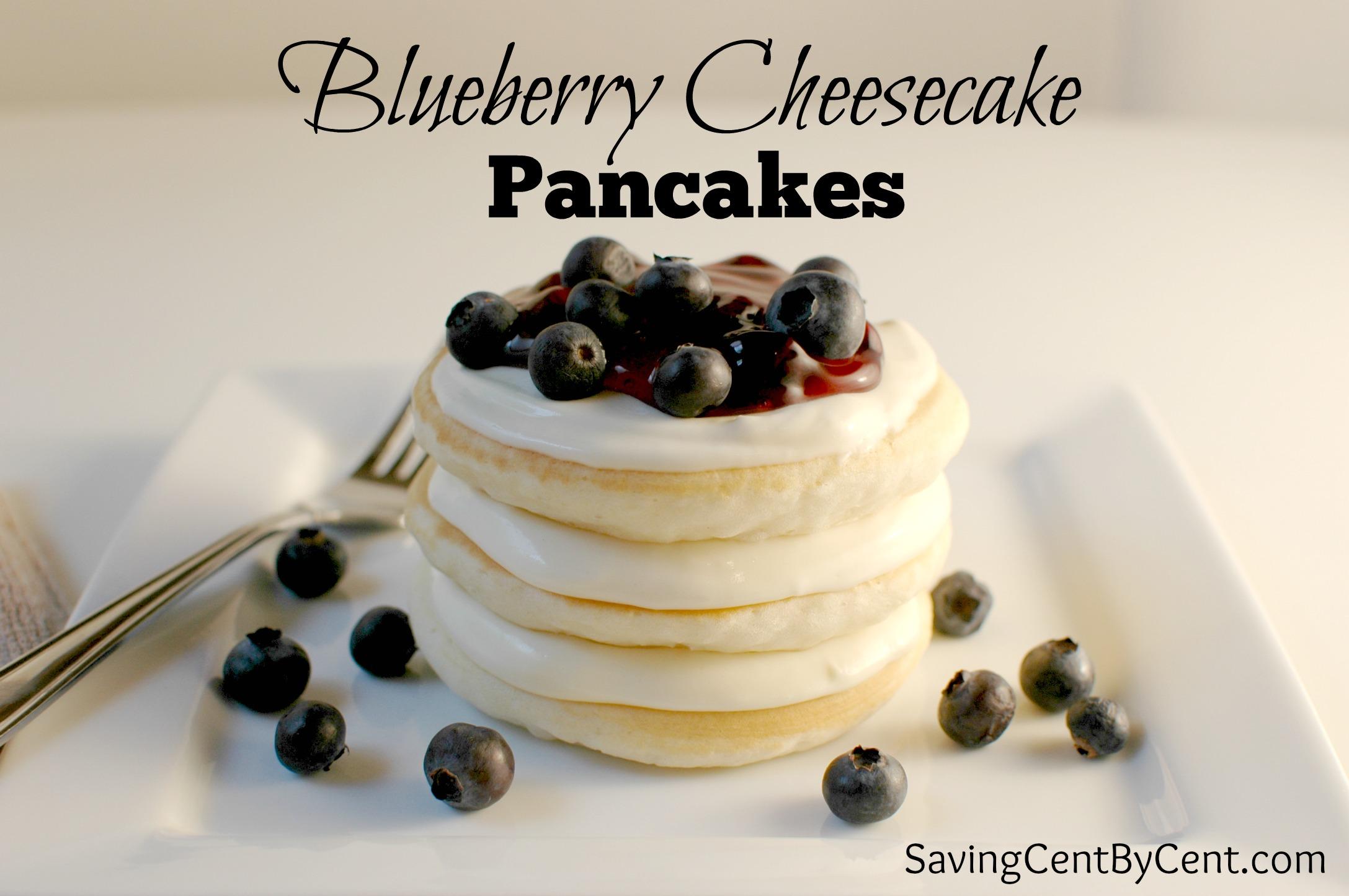 Blueberry Cheesecake Pancakes + Krusteaz Breakfast Night Giveaway ...