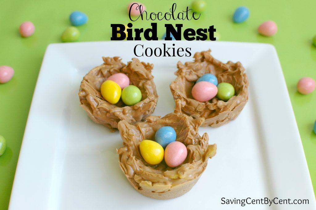 Chocolate Bird Nest Cookies