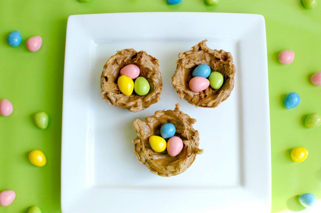 Chocolate Bird Nest Cookies 2
