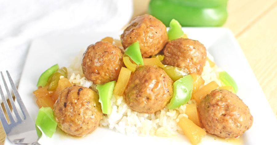 Crock Pot Hawaiian Meatballs