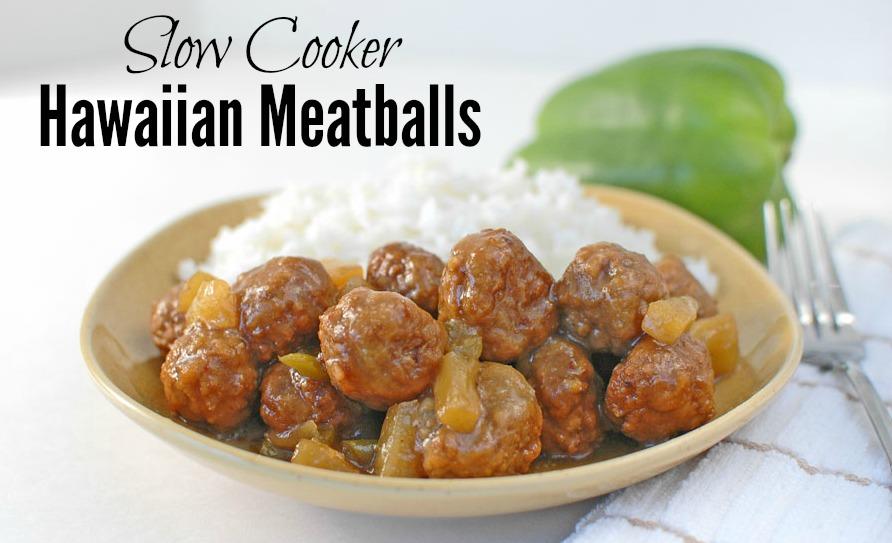Hawaiian Meatballs Slow Cooker