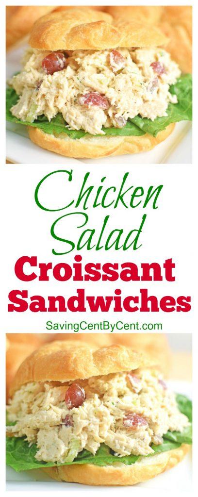 The Best Chicken Salad Croissant Sandwiches
