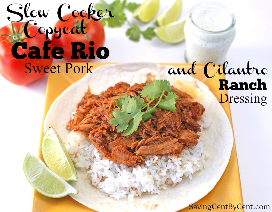 Slow Cooker Copy Cat Cafe Rio Sweet Pork