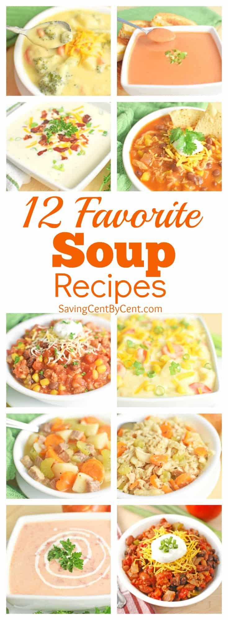 12 favorite soup recipes