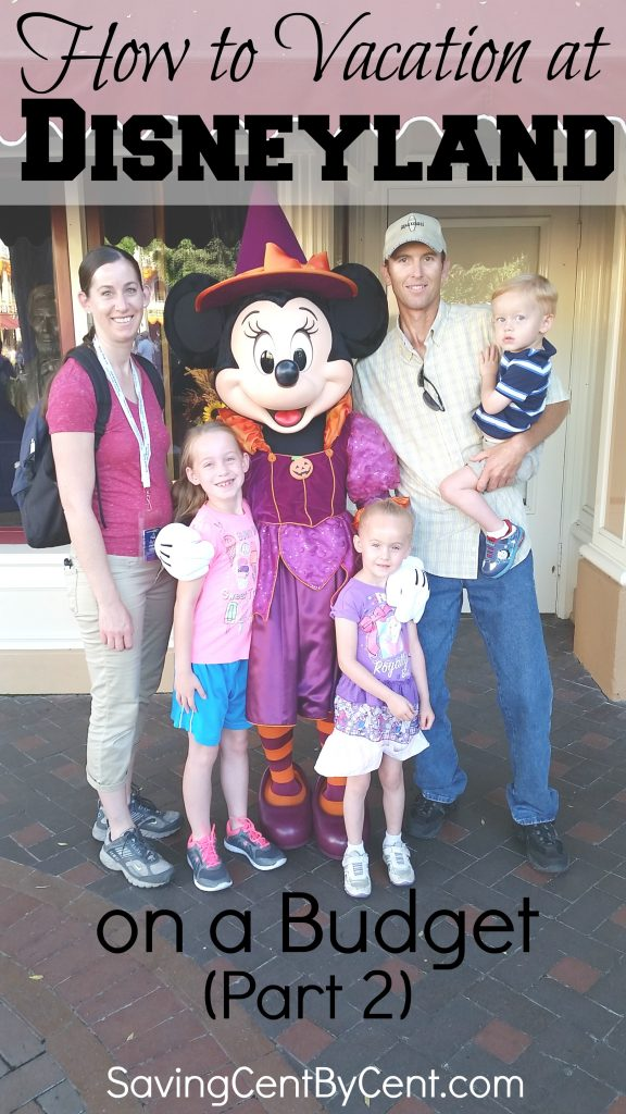 how to vacation at disneyland on a budget part 2