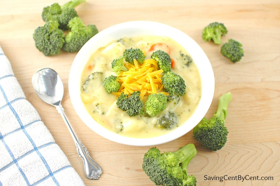 Broccoli Cheese Soup with Logo