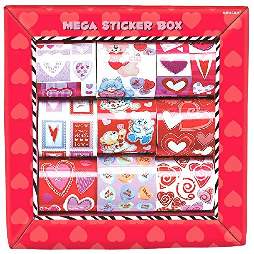 amazon - valentine's day sticker box