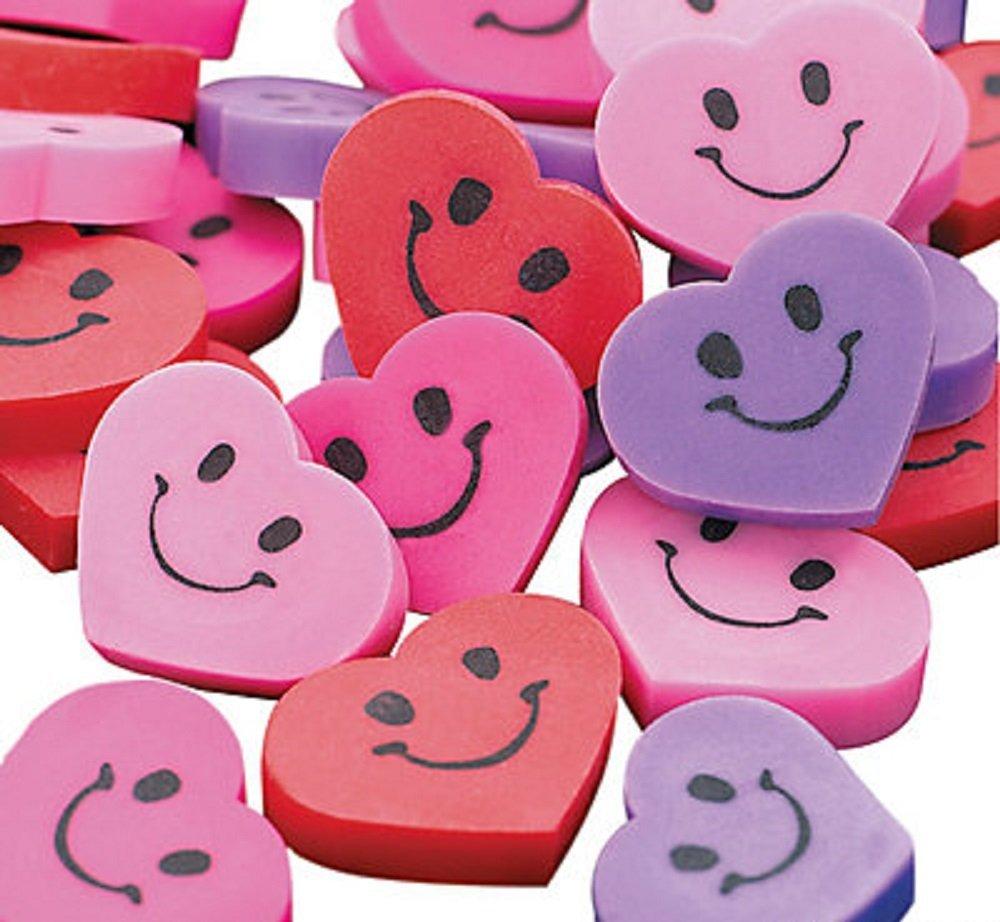 amazon - valentine's heart erasers