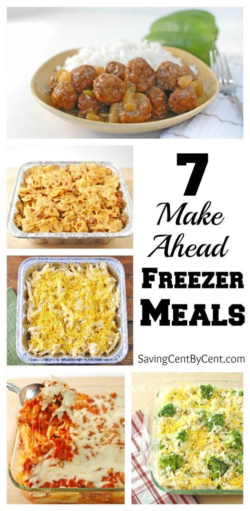 7 Make Ahead Freezer Meals