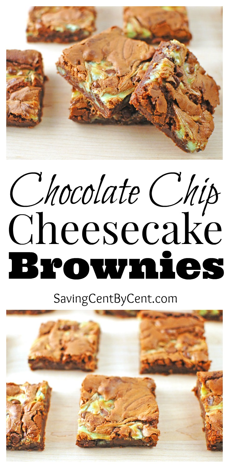 Chocolate Chip Cheesecake Brownies Dessert