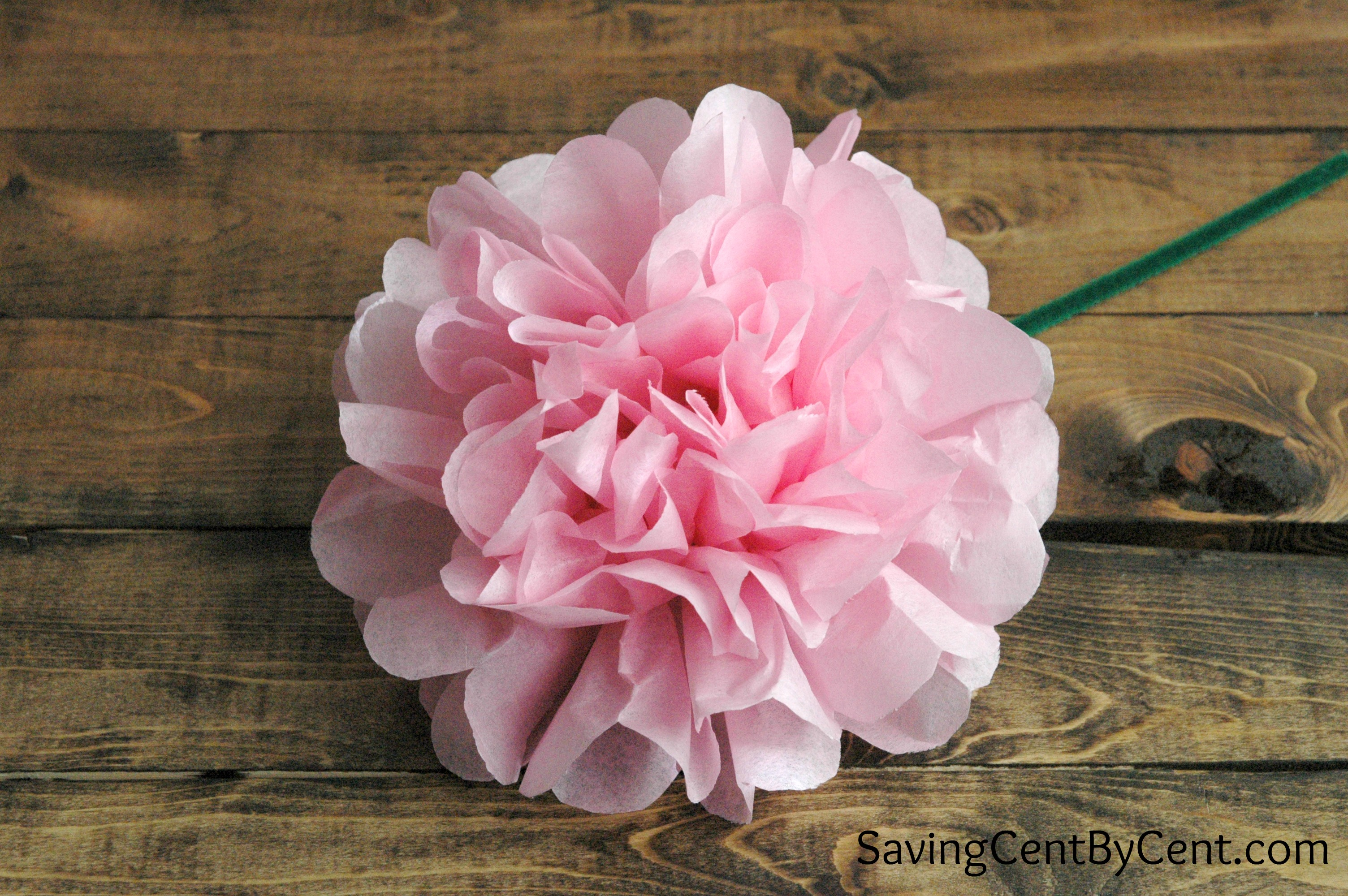 How To Make Tissue Paper Flowers Video Tutorial Saving Cent By Cent