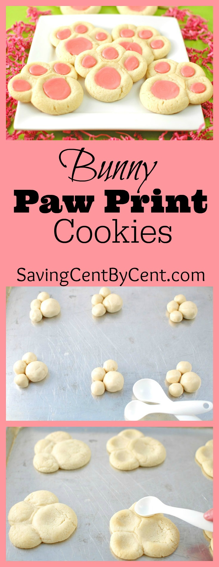 Bunny Paw Prints Cookies Easter