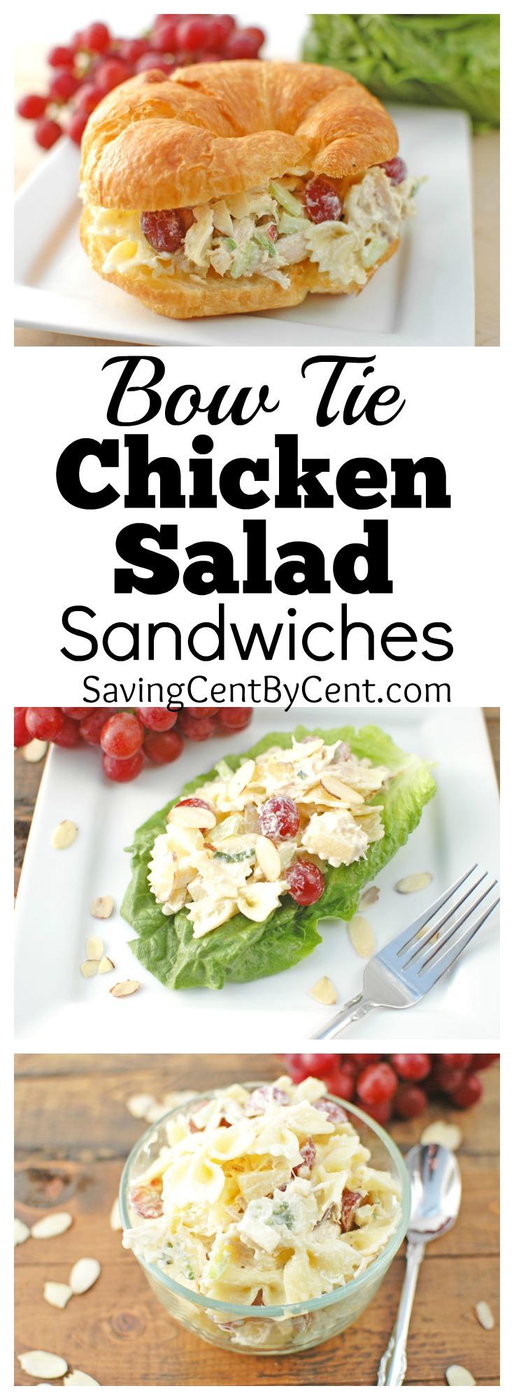 chicken salad bow tie sandwiches