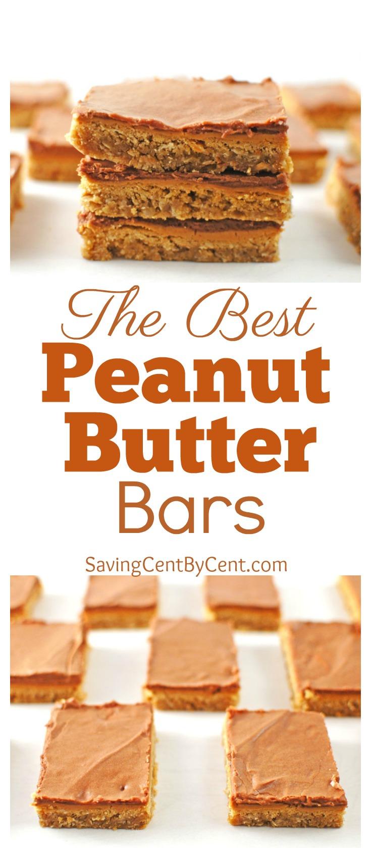 The Best Peanut Butter Bars