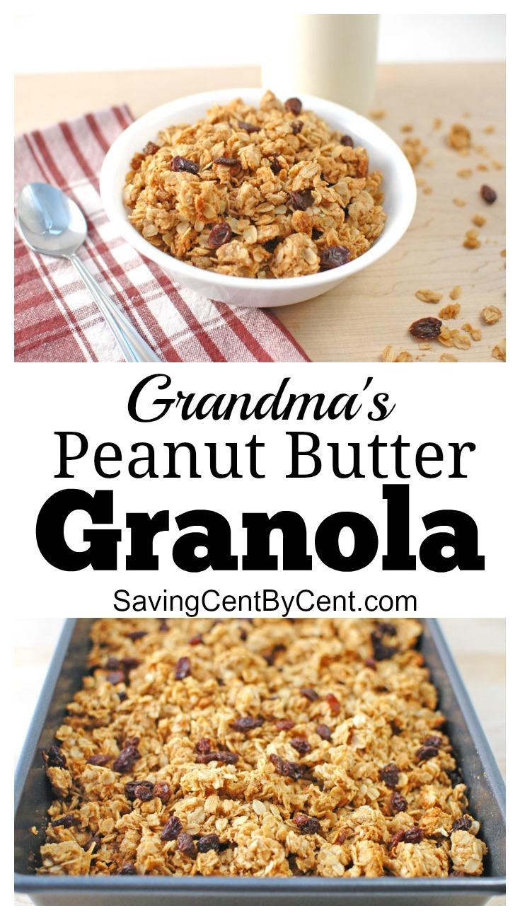 Grandma's Homemade Peanut Butter Granola