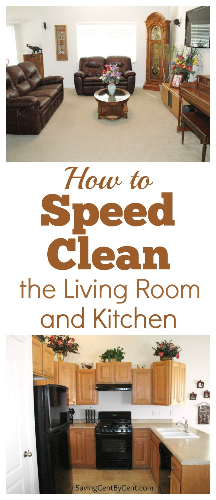 how to speed clean the living room and kitchen