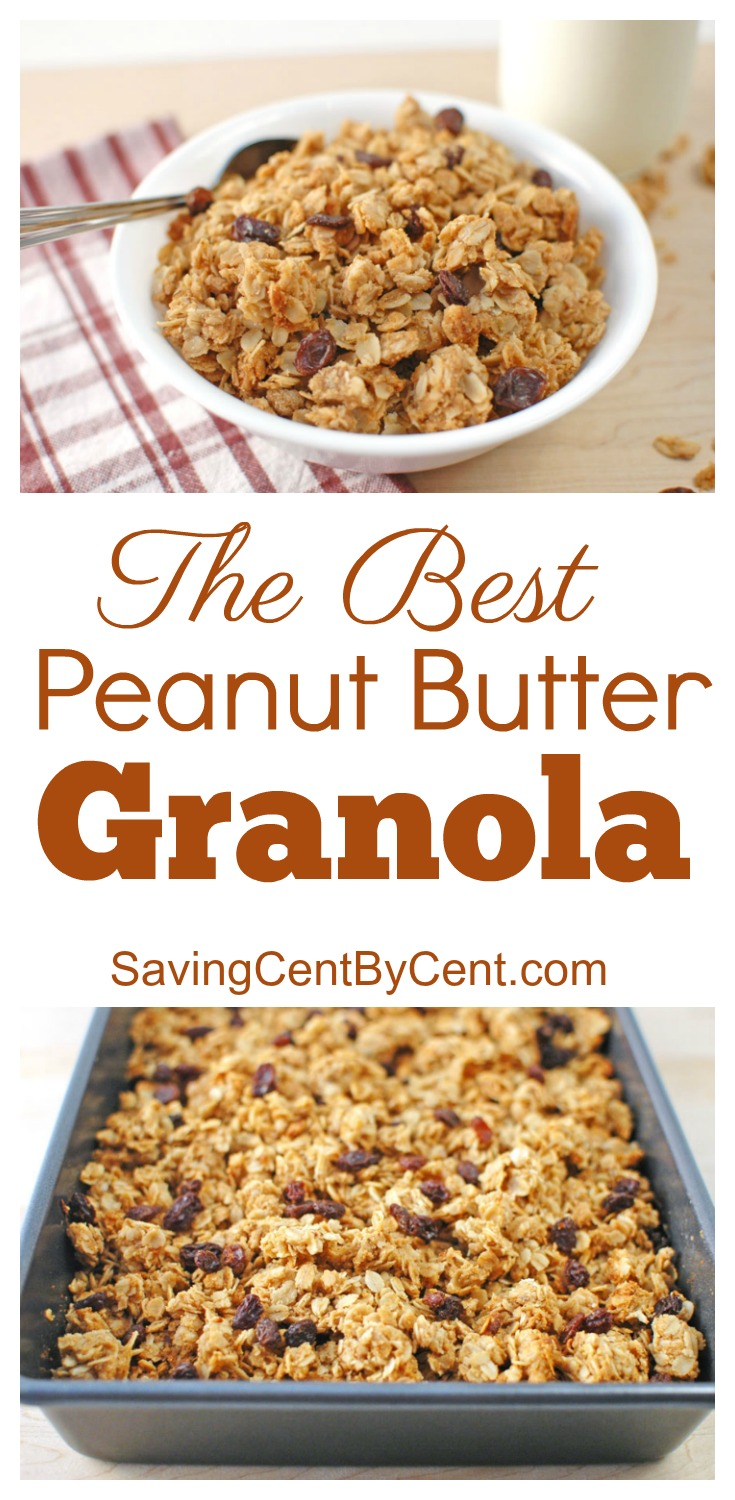 The Best Peanut Butter Granola