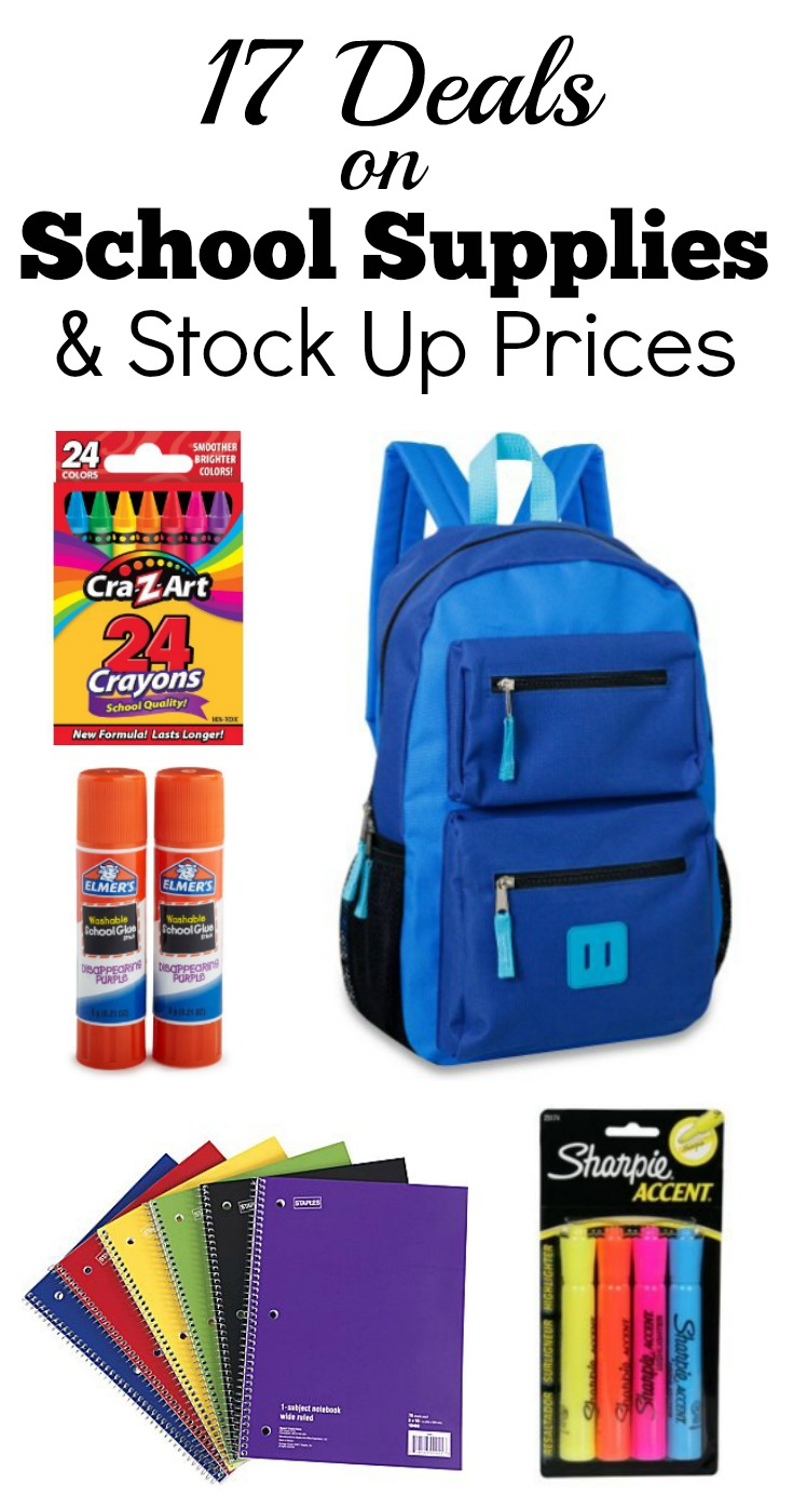 17 deals on school supplies & stock up prices