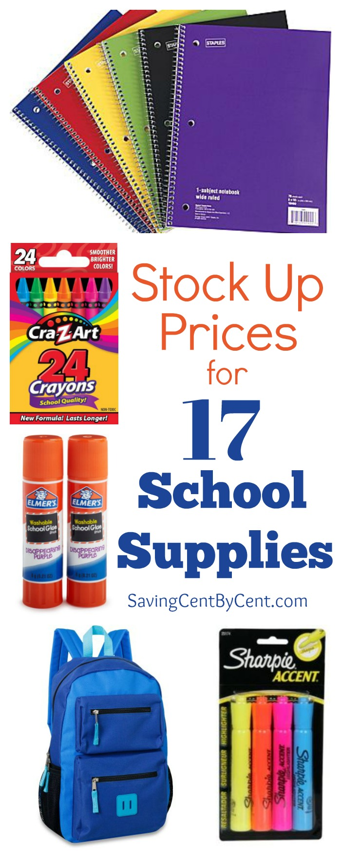 Stock up Prices for School Supplies