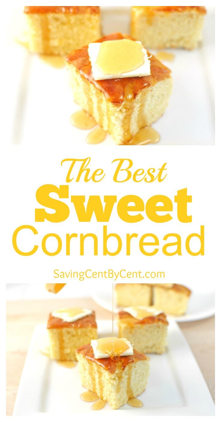 The Best Sweet Cornbread