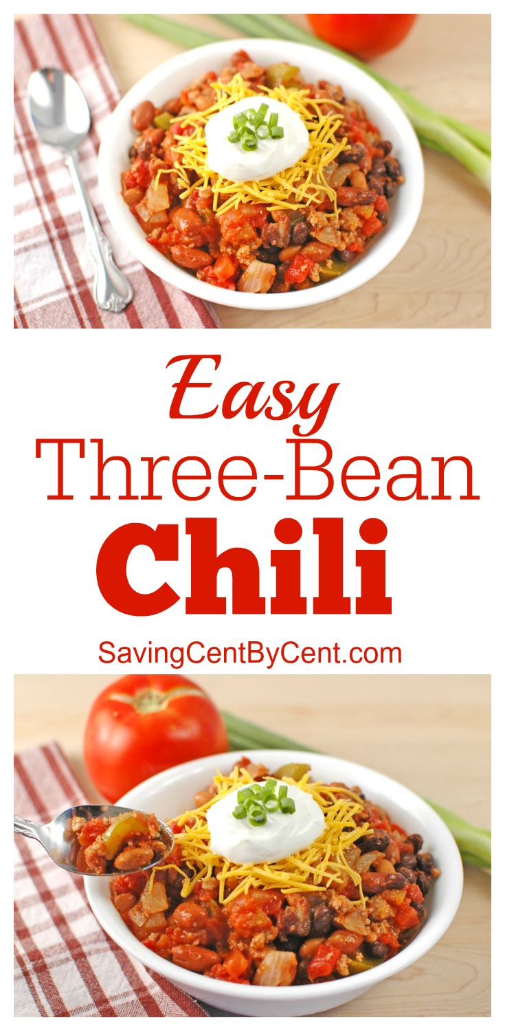 Easy Three Bean Chili