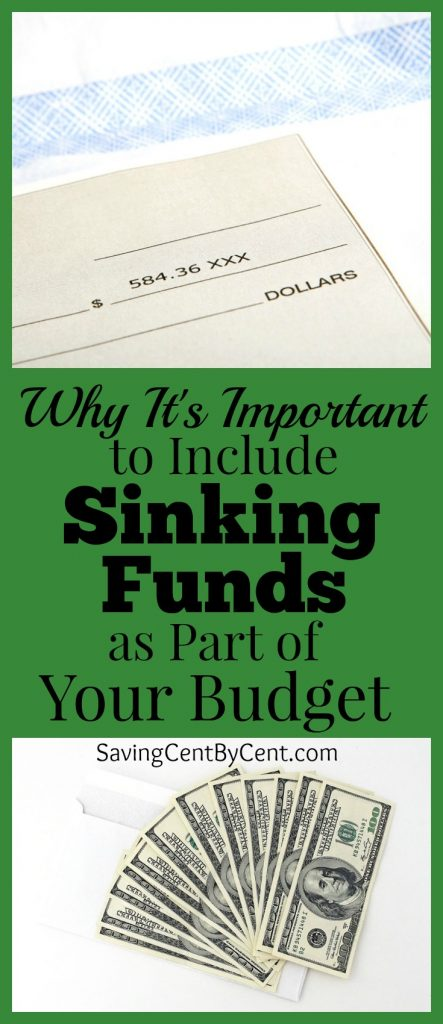 Why It's Important to Inlclude Sinking Funds as Part of Your Budget