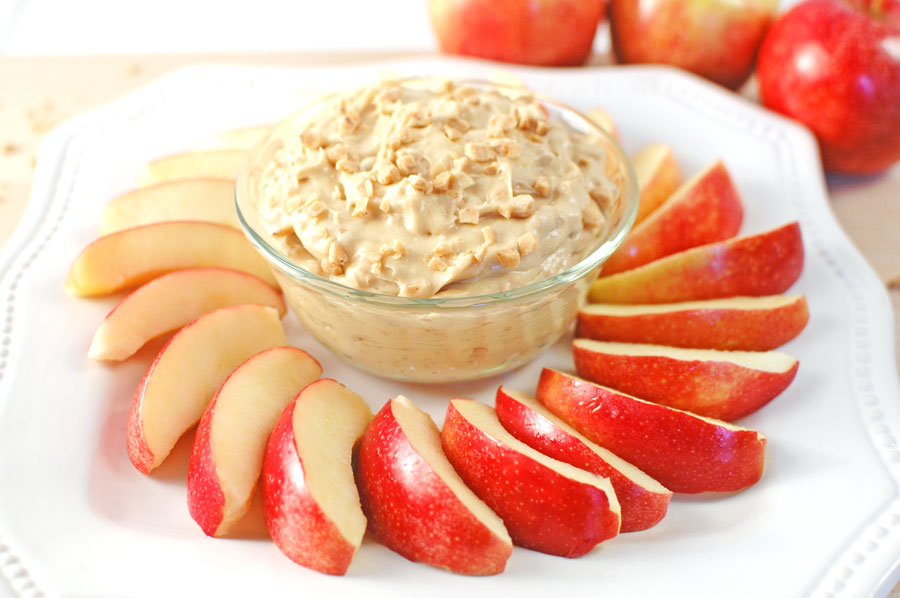 Toffee Apple Dip with Cream Cheese
