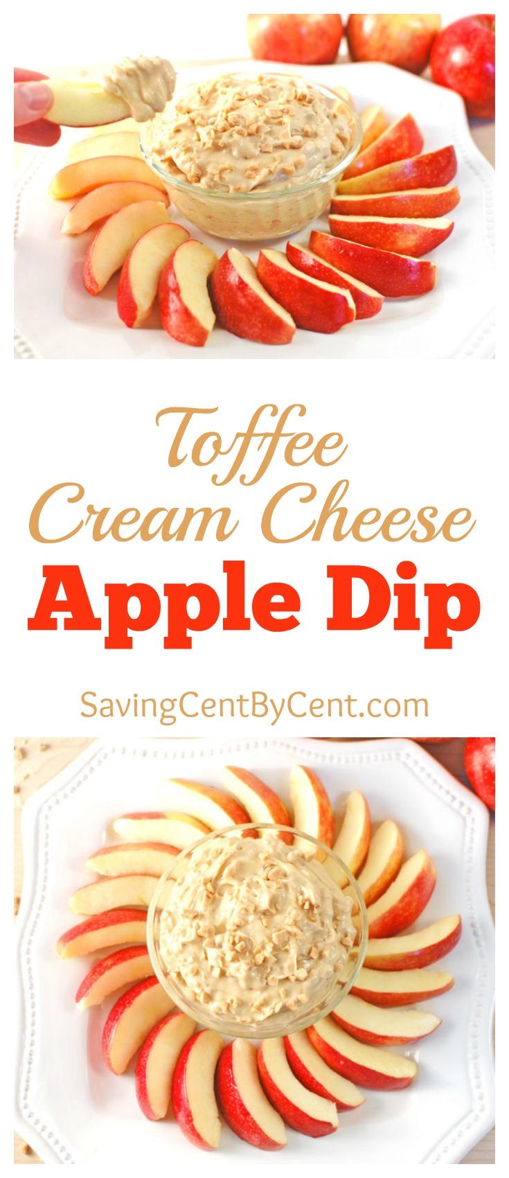 Toffee Cream Cheese Apple Dip