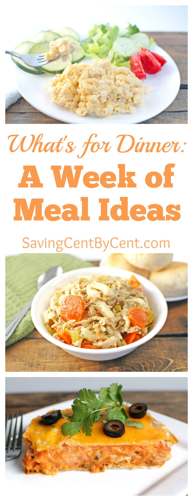 A week of meal ideas what's for dinner