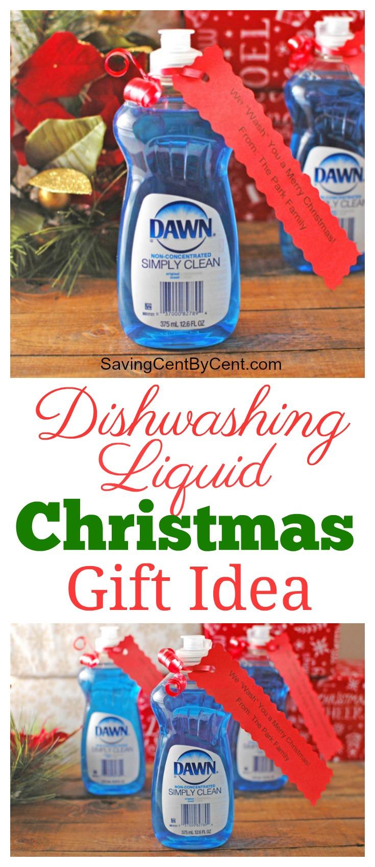 Dishwashing Liquid Christmas Gift Idea