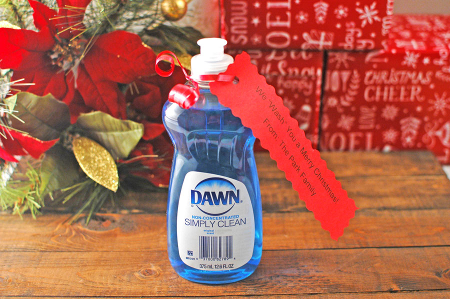 Dishwashing Liquid Holiday Inexpensive Christmas Gift Idea