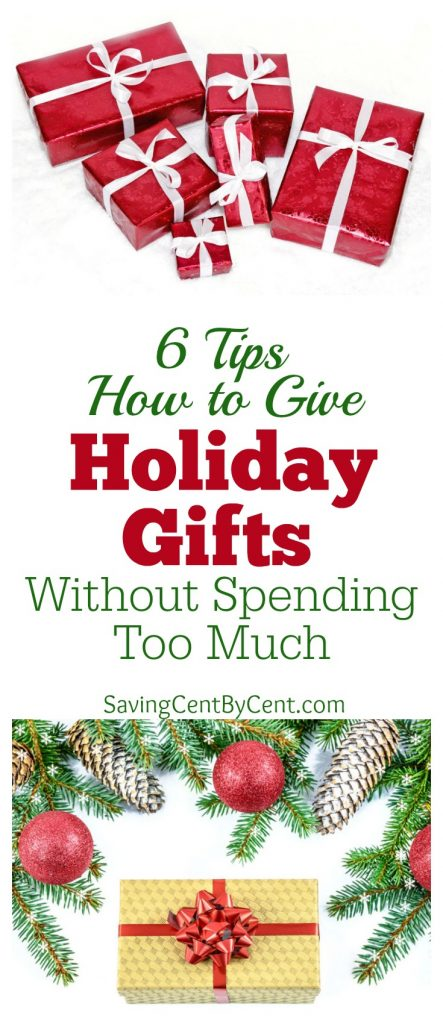 Tips How to Give Holiday Gifts without Spending Too Much