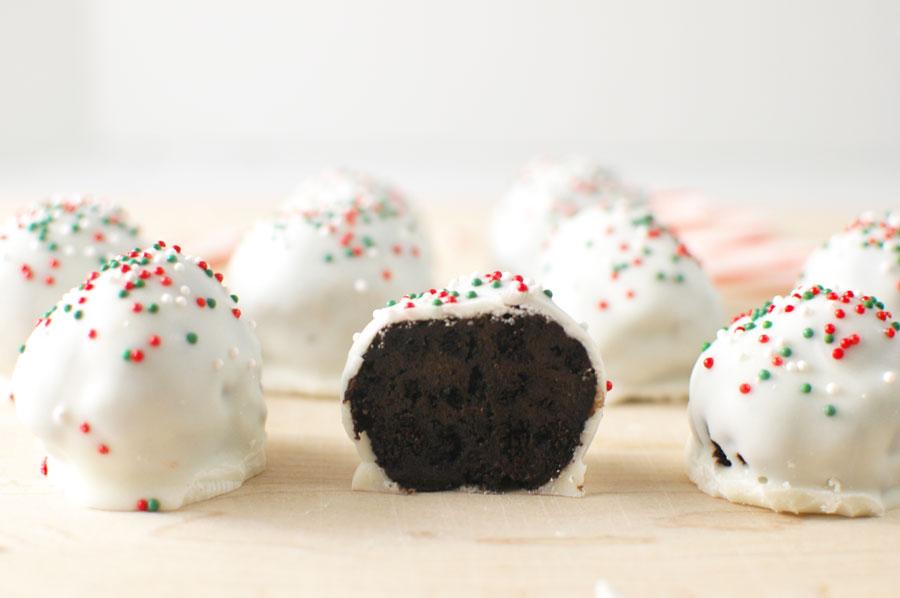 Peppermind Oreo Truffles