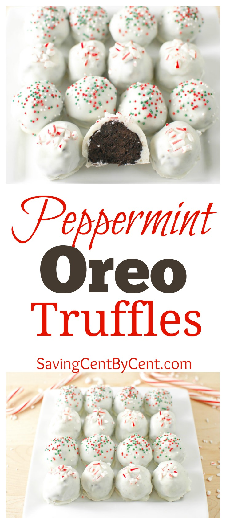 Peppermint Oreo Truffles Christmas Holiday