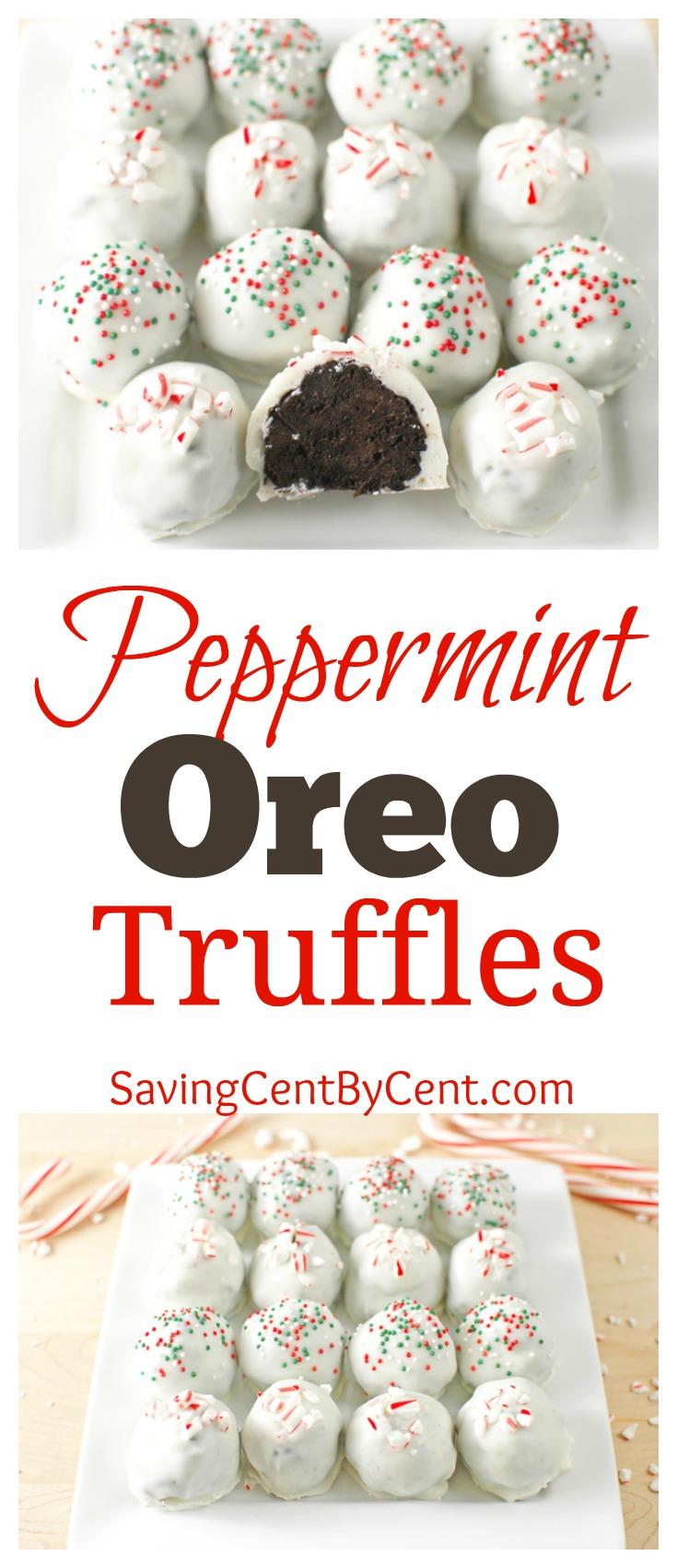 Peppermint Oreo Truffles Christmas Holiday
