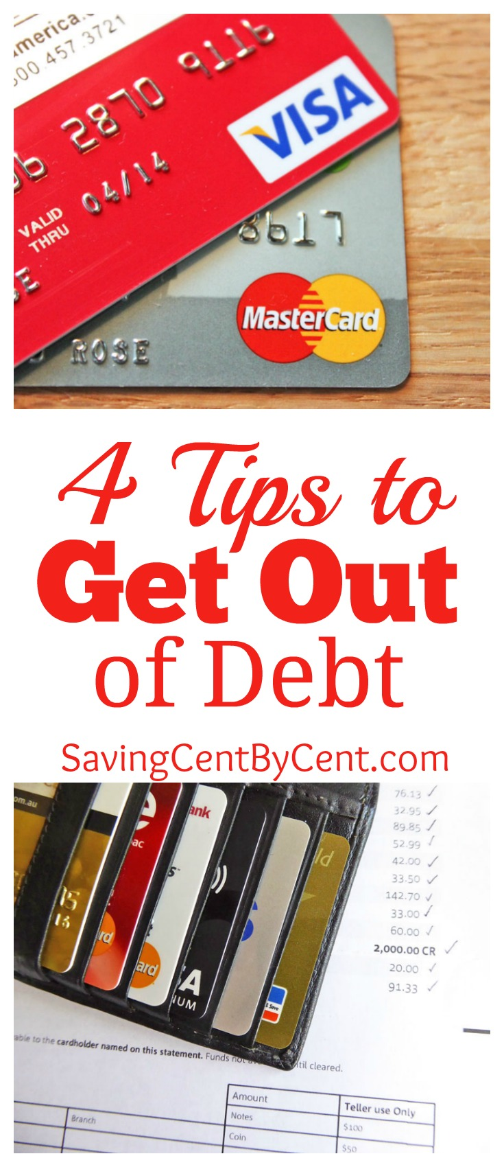 4 Tips to Get Out of Debt