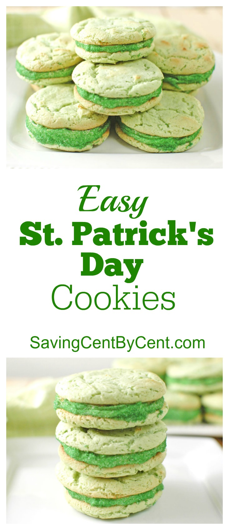 Easy St Patrick's Day Cookies