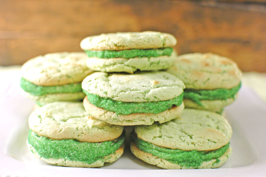 St. Patrick's Day Green Cookies with Sprinkles