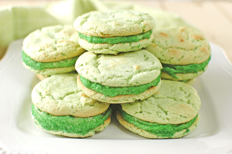 St Patrick's Day Cookies on a white plate